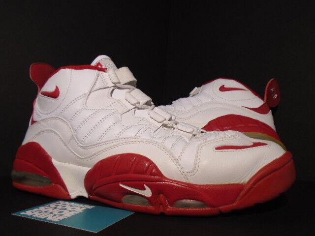 2007 Nike Air Max SENSATION 1 CHRIS WEBBER Rouge Blanc Argent 315863-161 11.5