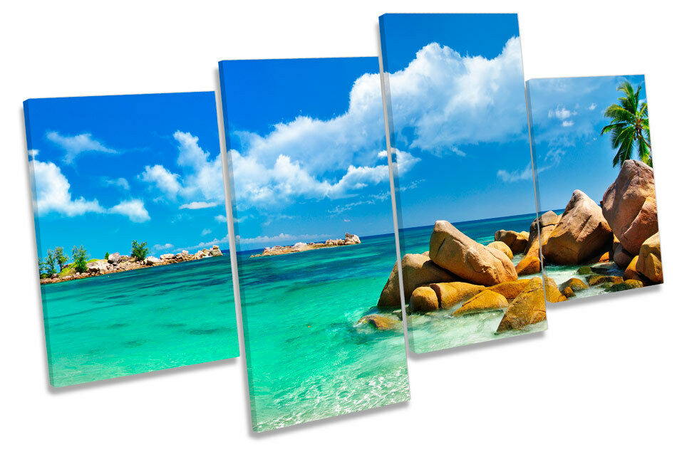 Beach Scene Seascape MULTI CANVAS WALL ART Boxed Framed