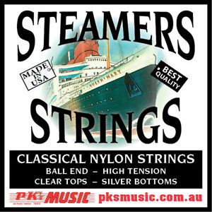 STEAMERS High Tension Ball End Classical Guitar Strings, USA MADE, FREE POSTAGE