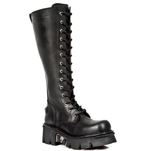 new concept 5864a cc170 Details about New Rock Boots Unisex Punk Gothic Stivali - Style 235 S1 Nero