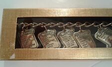 Ten 10 Commandments Charm Bracelet - gold Tone