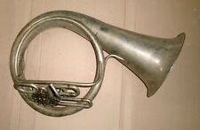 Vintage USSR Brass Pipe Tuba Helicon for restoration 2