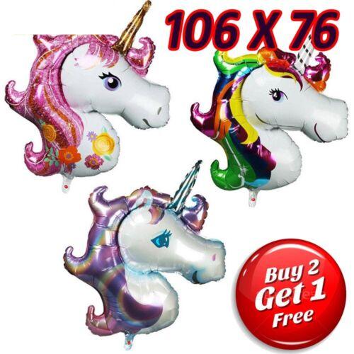 Unicorn Theme Bouquet of 5 Foil Helium Balloons Girls Birthday Novelty Decor New