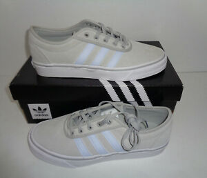 Adidas-New-Mens-Adi-Ease-Light-Grey-Suede-Skateboarding-Trainers-Shoes-UK-Size-7