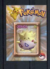 Grenada 2002 MNH Pokemon #175 Togepi 1v S/S Nintendo Game Freak Stamps