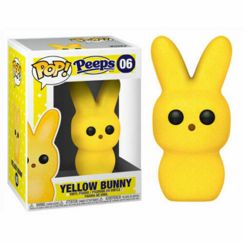 "PEEPS YELLOW BUNNY 3.75/"" POP VINYL FIGURE FUNKO 06 IN STOCK"