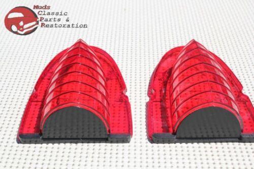 54 Chevy Belair Rear Taillight Lamp Lenses Brake Stop Backup Reverse Guide Style