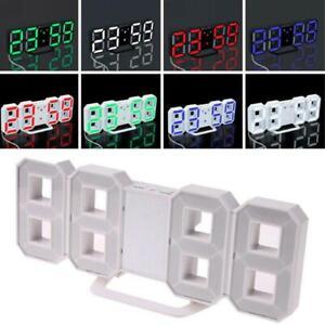Reloj-De-Pared-grandes-modernas-Temporizador-Digital-LED-Esqueleto-24-12-hora-pantalla-3D-Blanco