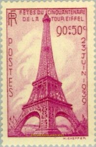 EBS-France-1939-Fiftieth-Anniversary-of-the-Eiffel-Tower-YT-429-MNH-cv-27
