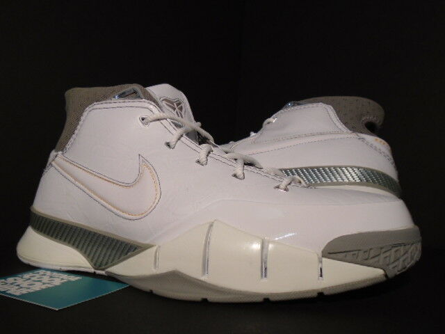 2006 Nike Zoom KOBE 1 GREAT WHITE SHARK I WOLF GREY CANYON GOLD 313143-111 DS 10
