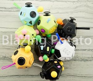 12-Side-Fidget-Cube-Stress-Anxiety-Relief-Figet-Desk-Toy-Focus-EDC-ADHD-NEW-USA