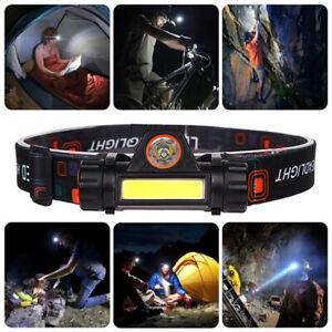 COB-LED-Headlamp-USB-Rechargeable-Flashlight-Mini-Headlight-head-light-Torch-CHZ