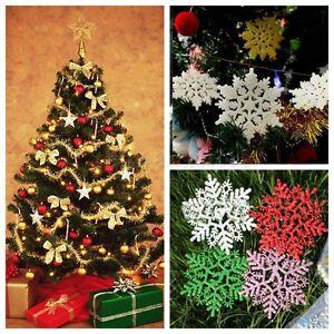 ALBERO-di-Natale-Decorazione-Confezione-da-12-Fiocchi-di-neve-Natale-Ghirlanda-Stella-Fiocco-di-neve