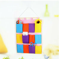 Wall Door Cloth Colorful Hanging Storage Bags Case Pocket Home Organization Hot