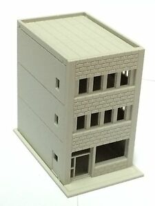 Outland-Models-Railway-Modern-3-Story-Building-Shop-A-Unpainted-N-Scale-1-160