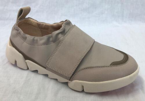 de Clarks Tri gris cuero Trigenic para Gardenia claro damas Bnib Zapatos wzqYZ65z