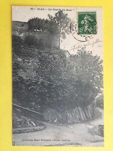 cpa-Ecrite-en-1913-SAINT-LO-Manche-La-TOUR-034-La-ROSE-034-Futur-Jardin-public