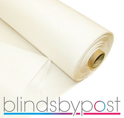 White Sateen Fleece Bonded Curtain and Roman Blind quality Lining  137cm x 35M