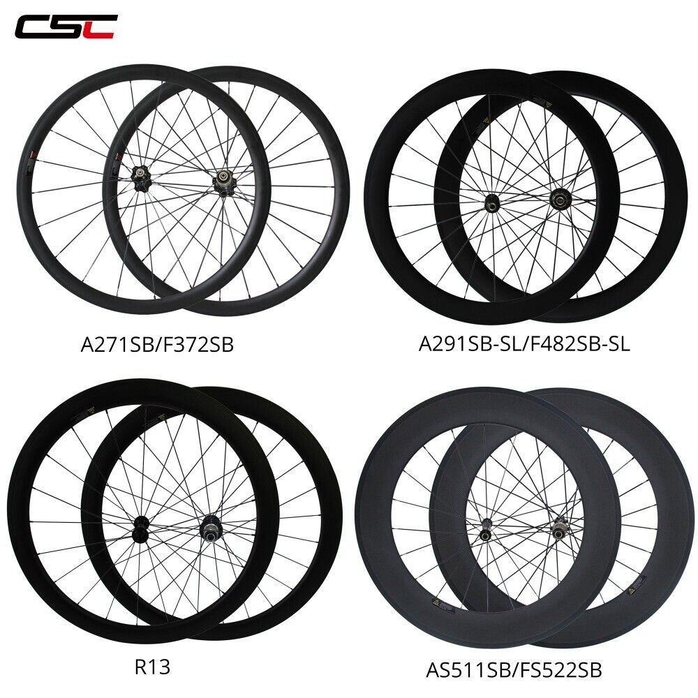 38  50 60 88mm Deep 25mm Width 700C Road Bike Tubeless Carbon Wheel Set 1 Pair  at the lowest price