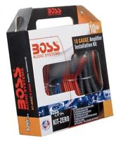 Boss Audio Kit-zero 10 Gauge Amplifier Installation Kit, New, Free Shipping on sale