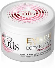 Amazing Oils Cranberry Body Butter, cream for Dry Skin with Argan oil