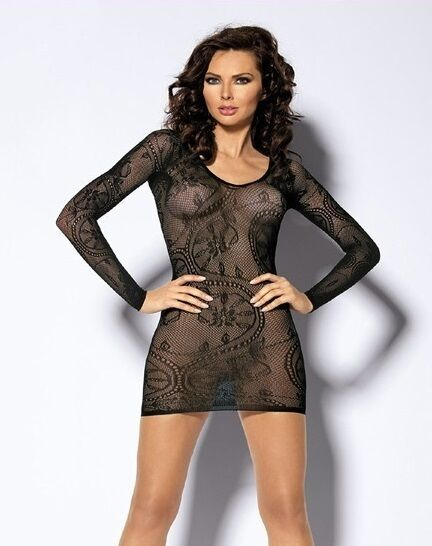 FISHNET NET LACE LONG SLEEVE TOP OSFA DANCE GOTHIC COSTUME FAST N FREE POST