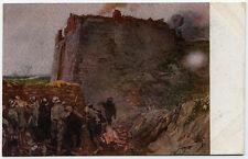 cartolina militare FORNACE DI CALCE ALLA FOCE DEL TIMAVO illustr.A.SARTORIO