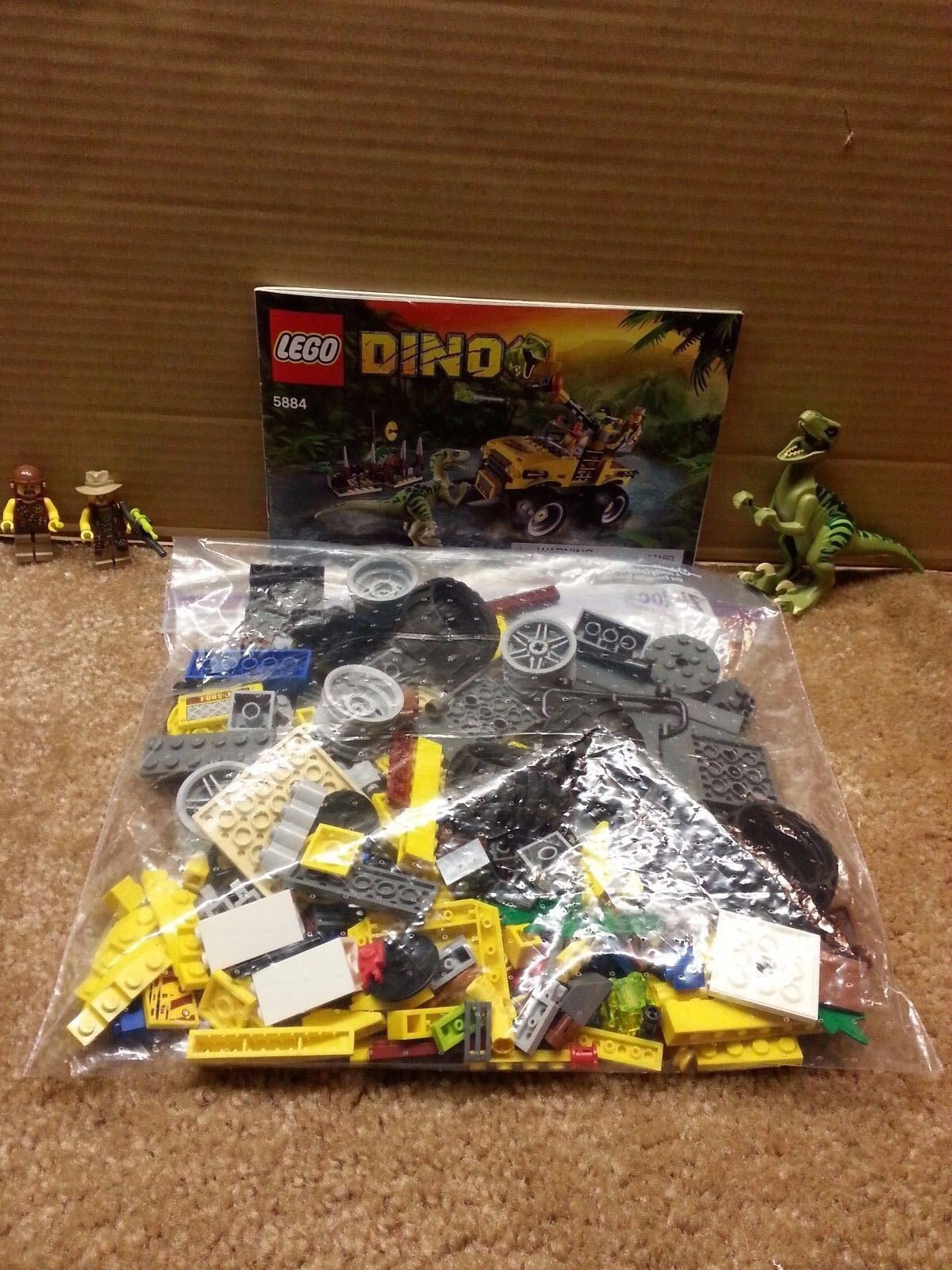 Lego Dino Raptor Chase 5884 5884 5884 COMPLETE w  instructions no box c3dc6e