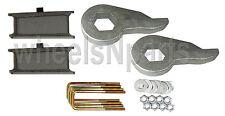 "Lift Kit Chevy Torsion Keys 4"" Fabricated Steel Blocks 88-98 6 Lug 4x4 Truck SUV"