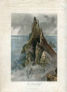 Irlanda-The-Bent-Cliff-Costa-Engraving-By-R-Hinshelwood-On-Large-Of-H-Fen