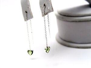 Sterling-Silver-Peridot-color-Heart-Threader-Earrings-Dainty