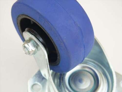 2x SL 80 mm Blue Wheel Rollen Lenkrollen Transportrollen Schwerlastrollen Wheels