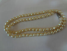 Faux Pearl necklace Unique twist clasp wedding prom classy classic loose string
