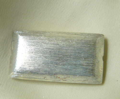 Sterling Silver bead Brushed finish Beveled Rectangle Great Focal  30x16MM