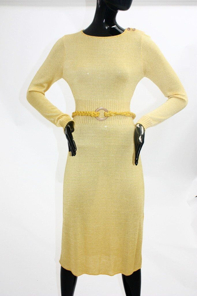 Find a canary knit dress