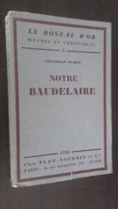 El Caña D'Or Obras y Crónicas S. Aroma Nuestra Baudelaire 1926 Frontispicio