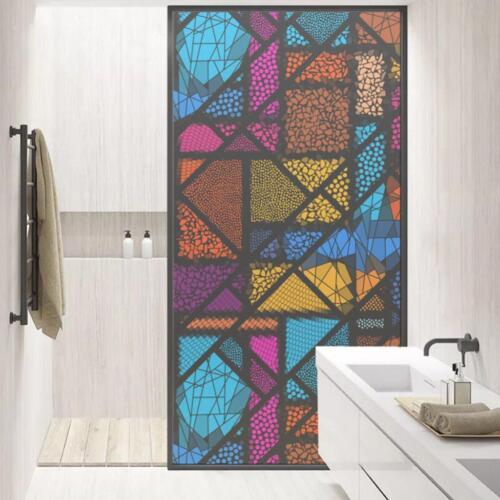 2x Removable Statische Mosaik Glas Fensterfolie Home Badezimmer Büro