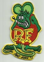 Officially Licensed Ed big Daddy Roth Rat Fink Hot Rod Patch Green & Red