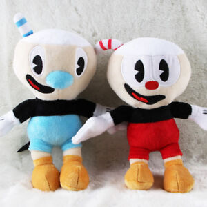 10/'/' Cuphead Game Soft Plush Doll Cuphead Mugman Mecup Brocup kids Gift US Stock