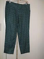 Ann Taylor Loft Double Dots Marisa Modern Ankle Pants 8