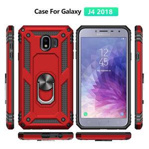 Pour-Samsung-Galaxy-J2-J4-J5-J6-J7-Military-Armor-Case-magnetique-Anneau-Couvercle-Porte