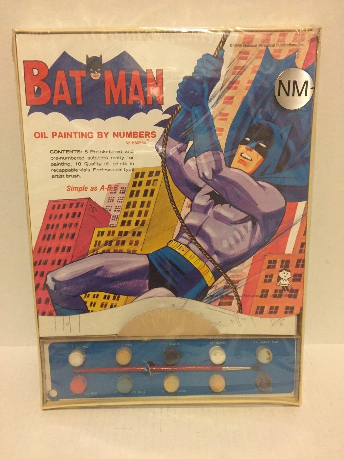 Vintage Batman pintura al óleo por números Sin Abrir Hasbro 1965