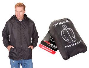 36514da727 Image is loading Mens-Showerproof-Cagoule-Raincoat-Kagool-Kag-In-A-
