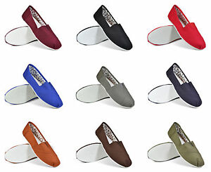 New-Canvas-Plimsolls-Pumps-Beach-Slip-On-Footwear-Shoe-Espadrilles