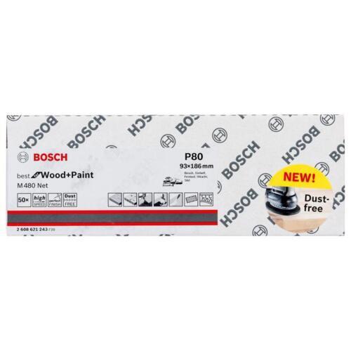 Bosch Netzstruktur-Schleifblätter M480 Net 93x186 K80 50er VE 2608621243