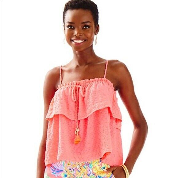 Lilly Pulitzer damen MAYS TOP, NWT , CORAL REEF, 2XS