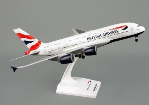 British Airways BA Airbus A380 BIG Solid Model /& L//Gear New Reg G-XLEA First BA