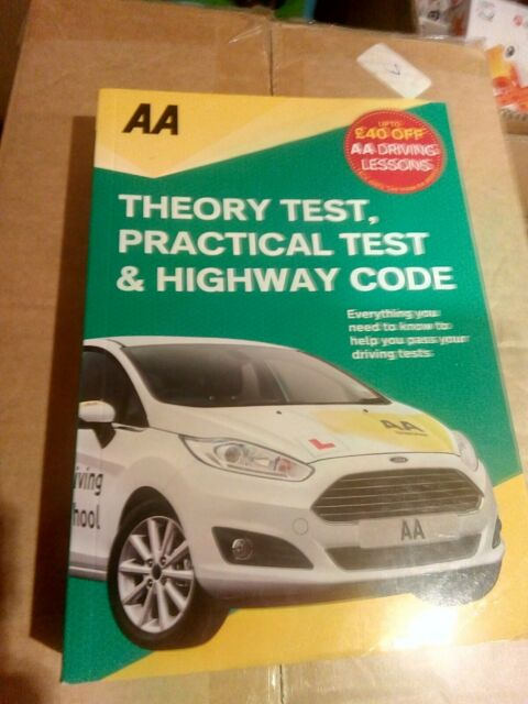 AA theory test and highway code book & Practical test and driving skills manual