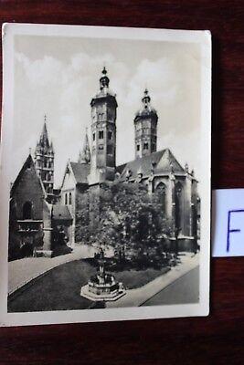 Herrlich Postkarte Ansichtskarte Sachsen Naumburg Dom