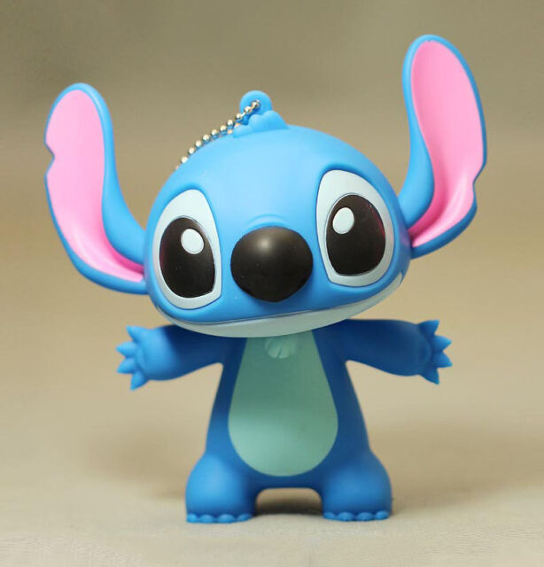 12cm Large Blue Cute Stitch Figure Key Chain Pendant Cartoon Toy Gift Collection
